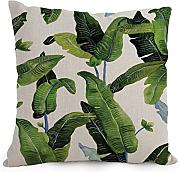 Throw Cushion Covers 18 X 18 Inches / 45 By 45 Cm(2 Sides) Nice Choice For Lounge,bench,family,divan,christmas,teens Boys Palm