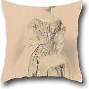 Throw Pillow Case 18 X 18 Inches / 45 By 45 Cm(two Sides) Nice Choice For Divan,chair,gril Friend,office,outdoor,wedding Oil Painting William Strutt - Young Woman Holding A Book