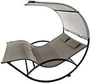 Vivere CHAISERKAL-CO - Double-chaise mecedora aluminio, Cacao