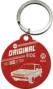 VW Golf Original Ride round metal keyring (na)