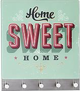 "Wenko 50401100 perchero magnético ""Home Sweet Home"", Matt-plata"