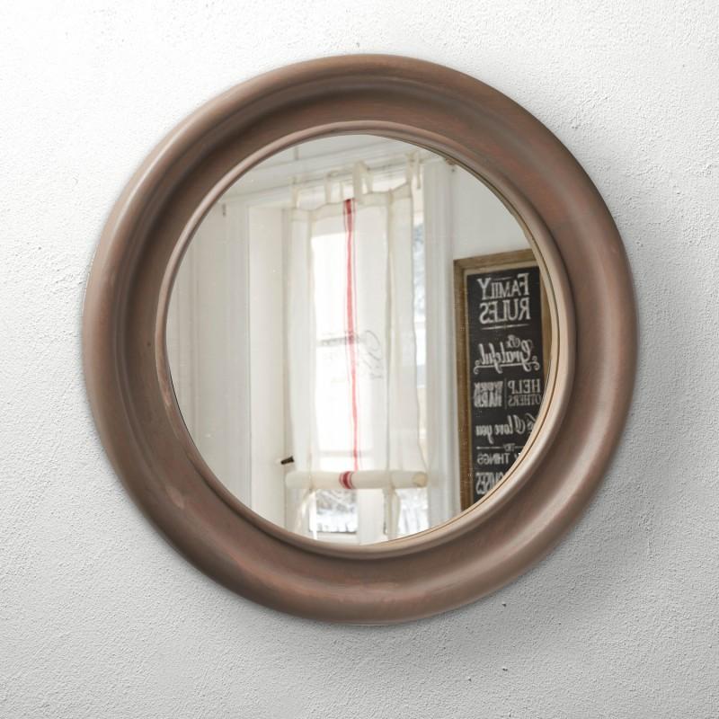 Espejos Espejo De Años 70 Decoración En Resina Montada Metal