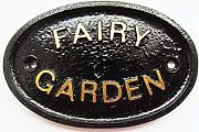"'""Fairy GARDEN valla/pared o jardín placa"
