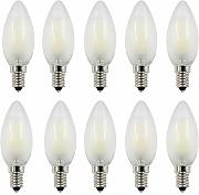 10 Packs LED Vintage C35 4W Candelabra Filament