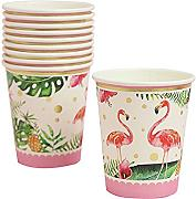 10 unids flamenco tropical papel vasos desechables