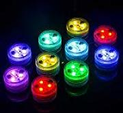 10x Luces LED Sumergible, Multicolor Impermeable