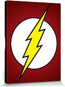 1art1® Set: Flash, Logo, DC Comics Cuadro, Lienzo