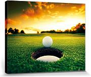 1art1® Set: Golf, Pelota De Golf Al Borde Cuadro,