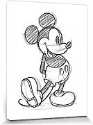 1art1® Set: Mickey Mouse, Sketched - Single