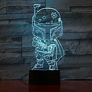 3D-3 Darth Vader Solider Design Touch Table Lamp 7