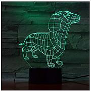 3D Color Visual Touch Puppy Modelado Led Night