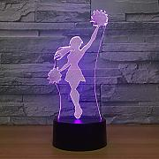 3D Illusion Light,Cheerleader Girl 3D Led Lámpara
