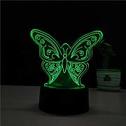 3D LED Forma de Mariposa Luz Nocturna USB Animal