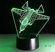 3D Light Night Lamp,Aircrafast Series Lámpara 3D