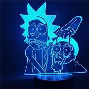 3D Luz Nocturna,Rick and Morty Cartoon 3d Night