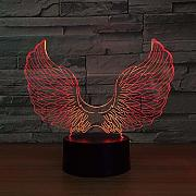 3D Night Light Angel Wing Lámpara Led 3D Powered