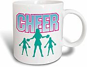3dRose Cheerleader Cheer Sports - Taza (cerámica,