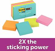 "3M Post-It Super Sticky Notes 2""X2"""