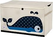 3SPROUTS Toy Chest Juguetero Plegable (Whale)