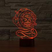 7 Cambio de color Usb Sleep Night Light Led 3D de