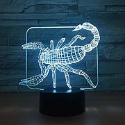 7 colores cambiantes 3D Visual Scorpion Led