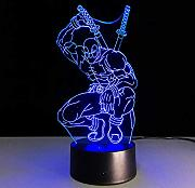7 colores cambiantes Hero   3D light LED Night