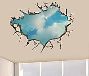 AdornHome-Sticker Adhesivos de pared Orificio