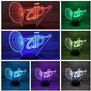 Aetd USB 3D Led Night Light Cornet RGB Niños