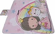 AGIRL Little Unicorn with Princess Girl Picnic Mat