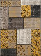 Alfombra Vintage Antique Amarillo 120x170 cm -