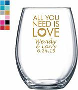 All You Need is Love - Copa de vino personalizada,