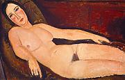 "Amedeo Modigliani – desnuda en un diván Vintage Fine Art Print, papel brillante/papel, Up to 210mm by 297mm or 8.3"" by 11.7"""