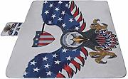 American Symbol Eagle With Usa Flags Alfombra de
