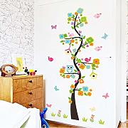 Animal Owl Butterfly Flower Tree Vinilos Adhesivos