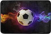 AoLismini Abstract Football Doormat, Soccer with