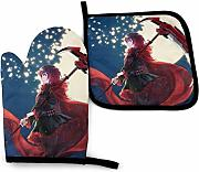 AOOEDM Oven Mitts and Pot Holders Sets Anime RWBY