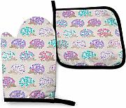 AOOEDM Oven Mitts and Pot Holders Sets Makeup