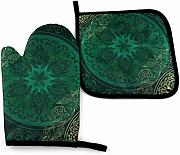 AOOEDM Oven Mitts and Pot Holders Sets, manoplas