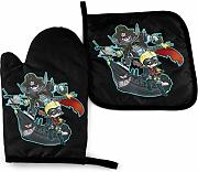 AOOEDM Oven Mitts and Pot Holders Sets Ryuji