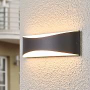 Aplique de pared ext. LED de color antracita Akira