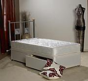 Apollo Beds Ortho Damask Single 3ft Divan bed with