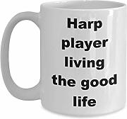 Arpa Player Living The Good Life Taza de café