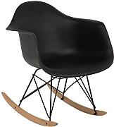 BALANCÍN EAMES RAR - SILLÓN MECEDORA TOWER Negro Negro & Madera Natural- (Elige Color) SKLUM