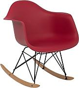 BALANCÍN EAMES RAR - SILLÓN MECEDORA TOWER Rojo Burdeos Negro & Madera Natural- (Elige Color) SKLUM