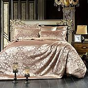 Bed Cover Set,4Pieces Luxury Silk Cotton Satin