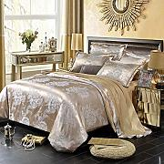 Bed Sheets King Size Set,4Pieces Luxury Silk