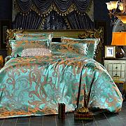 Bedding Double Sets,4Pieces Luxury Silk Cotton