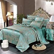 Bedding Sets Double,4Pieces Luxury Silk Cotton