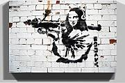 Big Box Art Banksy Mona Lisa Graffiti Wall Art
