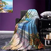 Blanket Seascape Throw Blanket House Y Coloridas